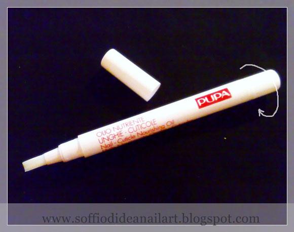Olio nutriente unghie cuticole pupa applicazione