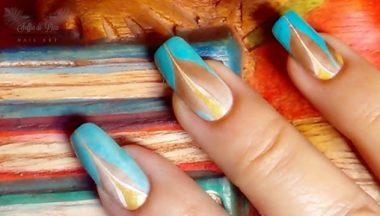 Nail Art Water Marble