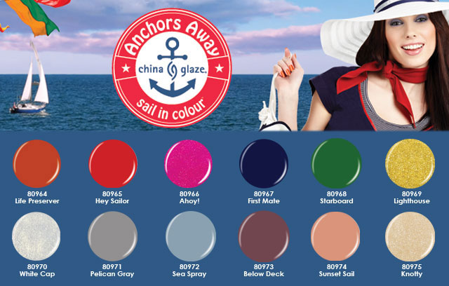 Anchors Away china glaze collection