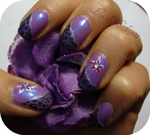 tutorial nail art easy flower