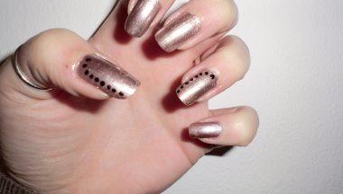 Nail Art Oro Nero