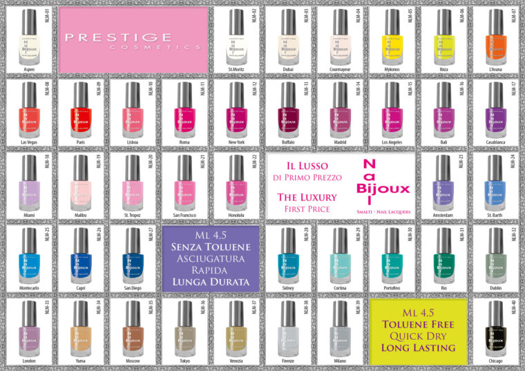 Smalti Prestige Cosmetics Gamma Colori