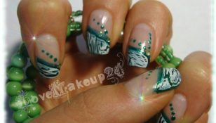 tutorial nail art cracklegreen