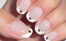 French Elegante nail art