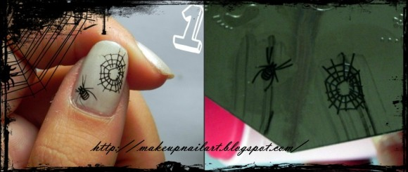 Tutorial Nail Art Nail Halloween 3