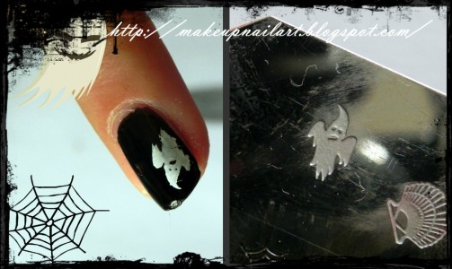 Tutorial Nail Art Nail Halloween 4