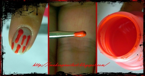 Tutorial Nail Art Nail Halloween 5