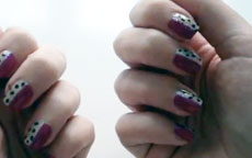 semi animalier nail art