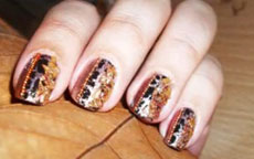 Autumn trees D nail art