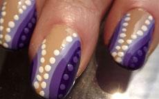 Faux Marble Viola con Pois nail art
