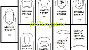 i vari tipi di unghia naturale tabella