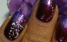 Amaranth and Violet nail art