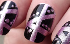 Taped Manicure nail art