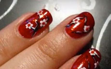 Tutorial Nail Art Geisha Flakes D