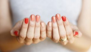 ombre nails february