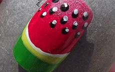 Estate Frutta Anguria nail art