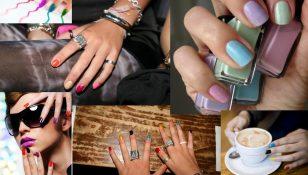 multi colored manicure