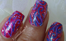 Abstrac Arabesque nail art
