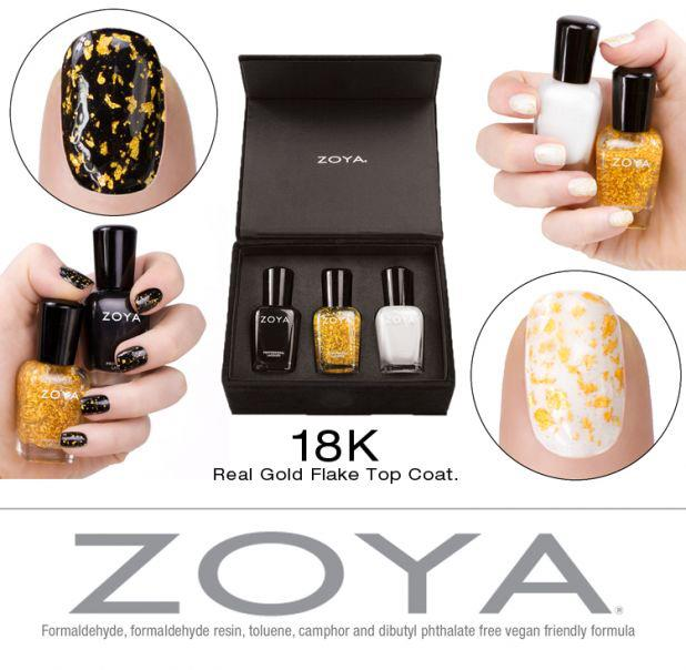 Zoya 18k Real Gold Flake Top Coat