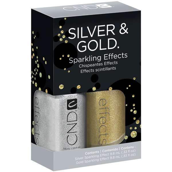 Silver & Gold sparkling Effect CND