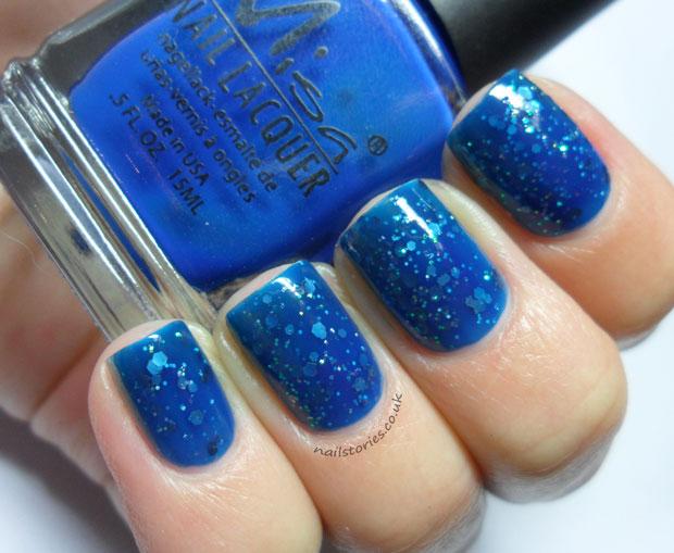 Jelly Sandwich Nail Art blue