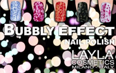Bubbly, Caviar e Ceramic Effect: i nuovi smalti Layla Cosmetics