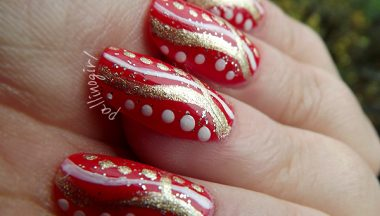 Tutorial Nail Art Holiday's Dots&Stripes Nail Art