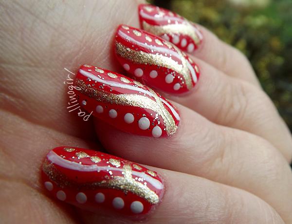 pallino girl nail art di natale
