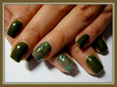 Tutorial Nail Art - Ever Green