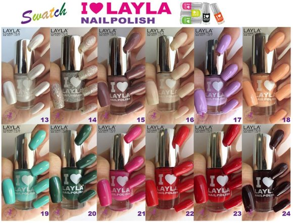Swatches layla nailpolish