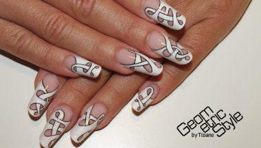 Geometric Style nails