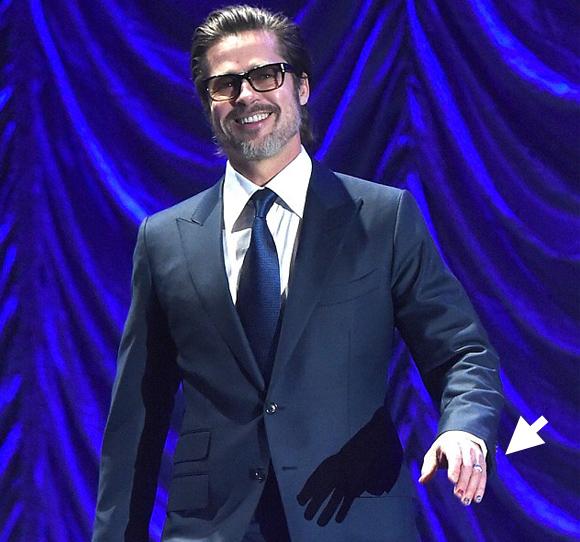 Brad Pitt porta la nail art sotto i riflettori