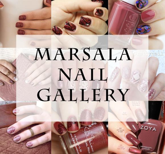 Marsala Nail Art Gallery