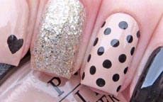 tutorial nail art a pois