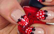 tutorial nail art minnie