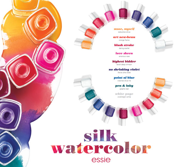 Essie Silk Watercolors OPI Color Paints