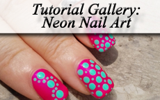 Tutorial Gallery: Neon Nail Art