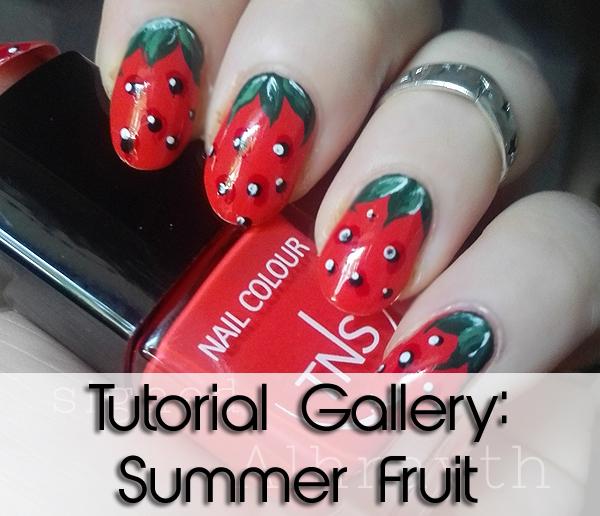 summer fruit nail art