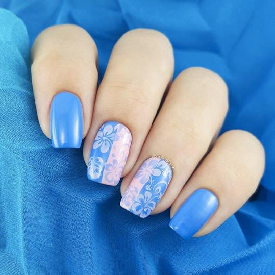 nail art con colori Pantone 2016