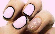 circle french manicure