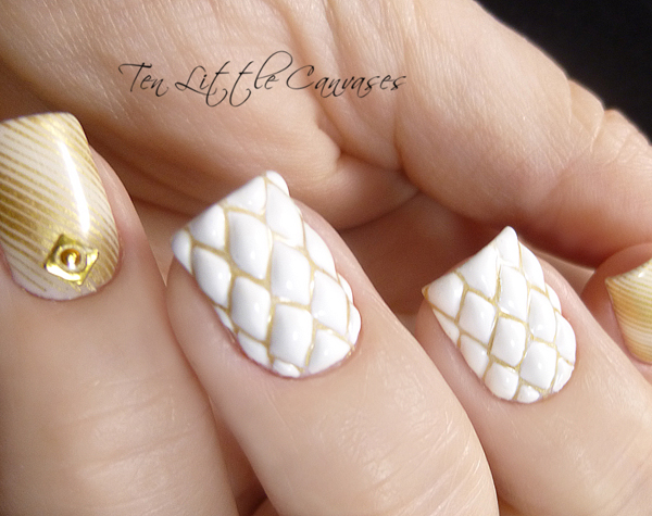 quilted nails (c) Ten Little Canvases