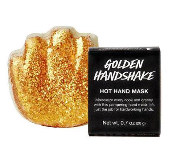lush golden handskake