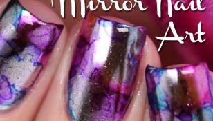 Mirror Nail Art
