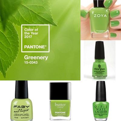 Pantone 2017 greenery Smalti