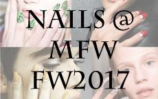 MFW FW2017 : nail look autunnali dalle sfilate milanesi